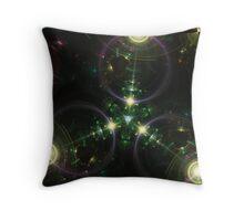 Tri Space Flux Throw Pillow