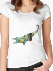 Alligator silhouette Women's Fitted Scoop T-Shirt