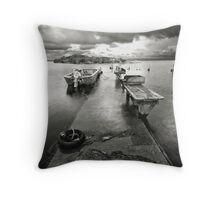 Fishermans Launch Throw Pillow