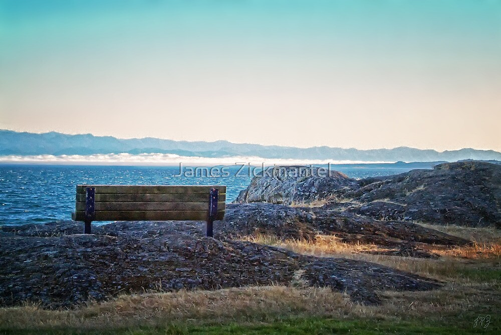 Fog View Bench #1 (photo) by James Zickmantel