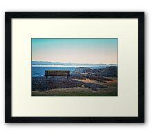 Fog View Bench #1 (photo) Framed Print