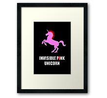 Invisible Punk Unicorn Framed Print