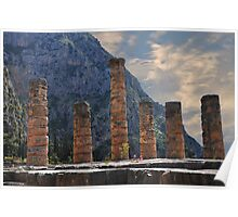 Temple of Apollo, Delphi Poster