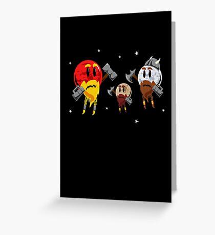 Red Dwarf, White Dwarf, Pluto the Dwarf Planet Greeting Card