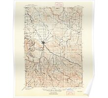 USGS Topo Map Oregon Baker 283139 1901 125000 Poster