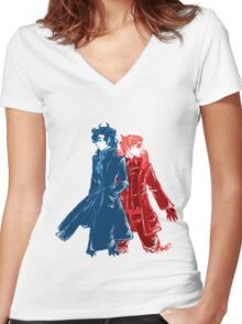 Sherlock & John Women's Fitted V-Neck T-Shirt