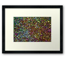 Colorful Sequence Glitter & Sparkles Framed Print