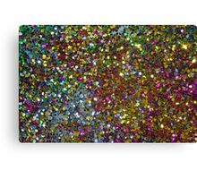 Colorful Sequence Glitter & Sparkles Canvas Print