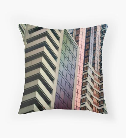 lines, patterns and perspective Throw Pillow