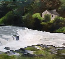 Cenarth Oil Painting by izzymcc