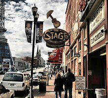 """DOWNTOWN: NASHVILLE, TENNESSEE, BEFORE THE FLOOD""... prints and products by © Bob Hall"