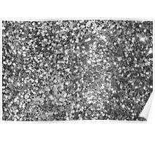 Black And White Sequence Glitter and sparkles Poster