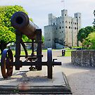 Rochester - Castle and Cannon by Dave Godden