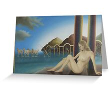 Greek mythology Amphitrite Greeting Card