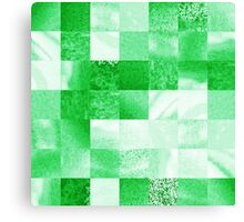 Baby Green Marble Quilt IIi Canvas Print