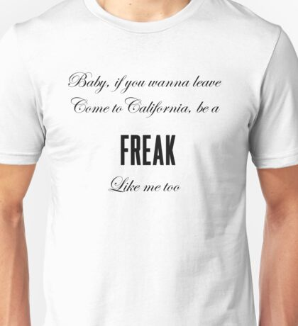 Lana Del Rey Freak Unisex T-Shirt