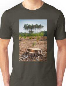 Woods logging one stump Unisex T-Shirt