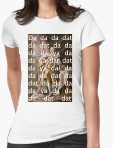 You'll be Back Hamilton King George III Da dat Womens Fitted T-Shirt