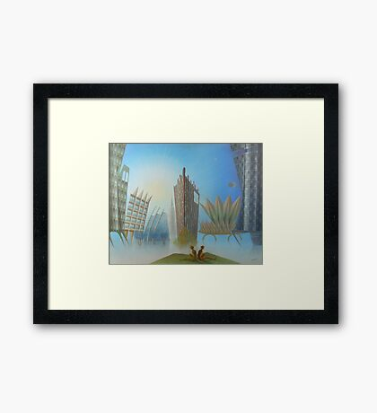 Oil painting on canvas Lost in Silence Framed Print