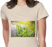 Scilla siberica flowerets Womens Fitted T-Shirt