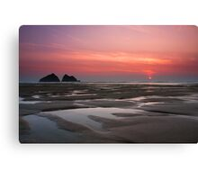 Cornwall - sunset Canvas Print
