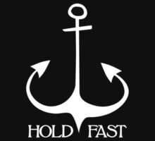 Hold Fast Anchor - white by LudlumDesign
