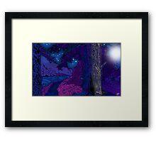 Water of Leith, Edinburgh Moonlight Drawing 2 Framed Print