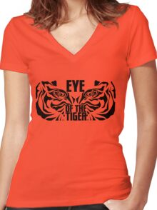 Eye of the tiger - Rocky Balboa Women's Fitted V-Neck T-Shirt