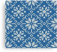 Knitted winter jacquard Canvas Print