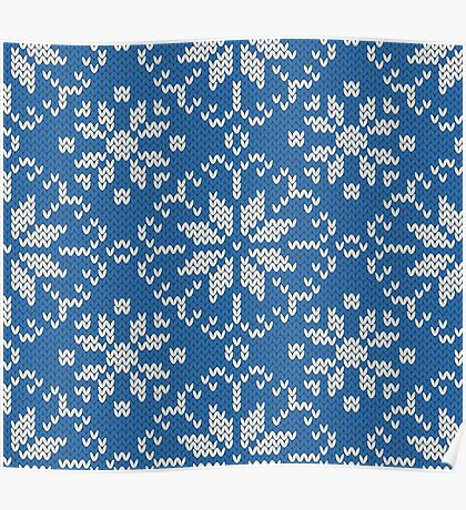 Knitted winter jacquard Poster