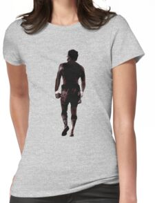 Rocky Balboa back Womens Fitted T-Shirt