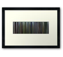 Moviebarcode: The Thin Red Line (1998) Framed Print