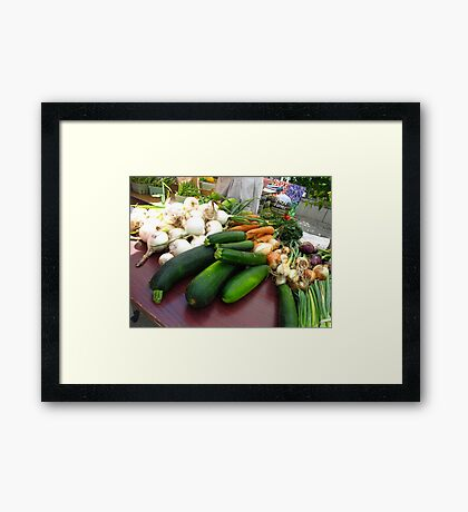 Plucked from the earth Framed Print