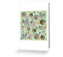 Sloth Party Greeting Card
