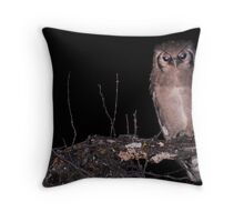 Zambia - Giant Eagle Owl Throw Pillow