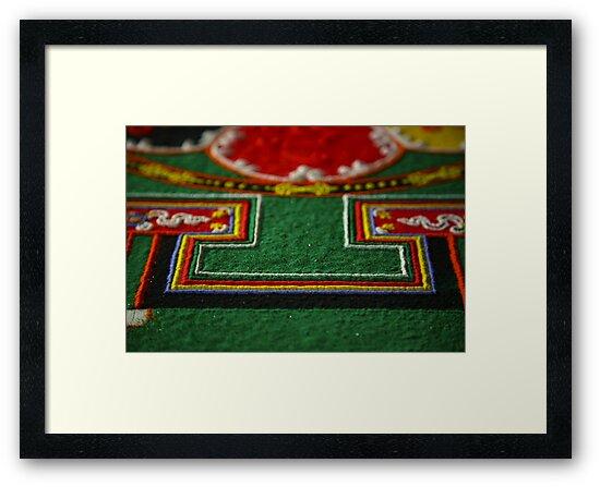 detail, sand mandala. melbourne, australia by tim buckley | bodhiimages