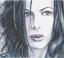 Kate Beckinsale mini-portrait by wu-wei
