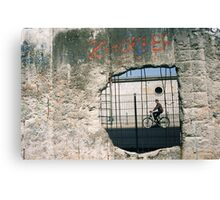 Decisive Moment, Berlin Wall Canvas Print