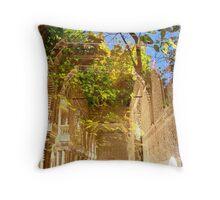 Abbey Courtyard Throw Pillow