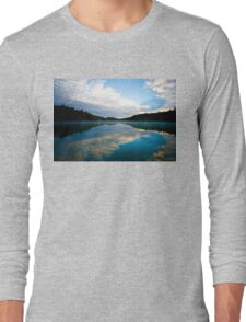 Lake Pink in Autumn Long Sleeve T-Shirt