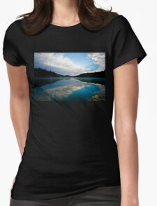 Lake Pink in Autumn Womens Fitted T-Shirt