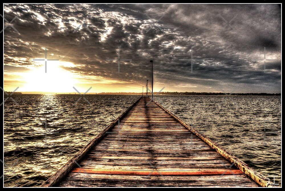 Como Jetty at Sunset 2 by Psycoticduck