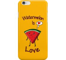 Watermelon is love iPhone Case/Skin