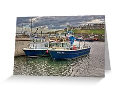 Seahouses Harbour Greeting Card