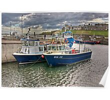Seahouses Harbour Poster