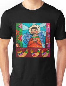 Madonna and her Lovebirds Unisex T-Shirt