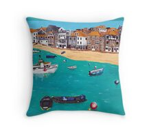 st ives harbour Throw Pillow