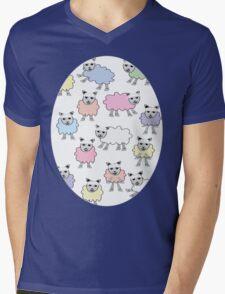 Counting Sheep Mens V-Neck T-Shirt
