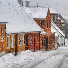 Snowfall in the city..... by Steen Nielsen