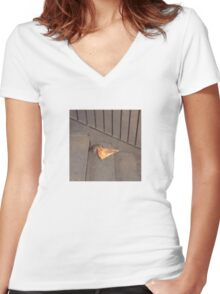 The Original Pizza Rat! Women's Fitted V-Neck T-Shirt